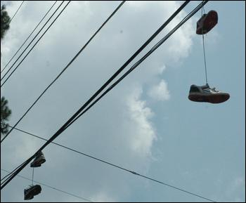 Power Lines On Tennis Shoes