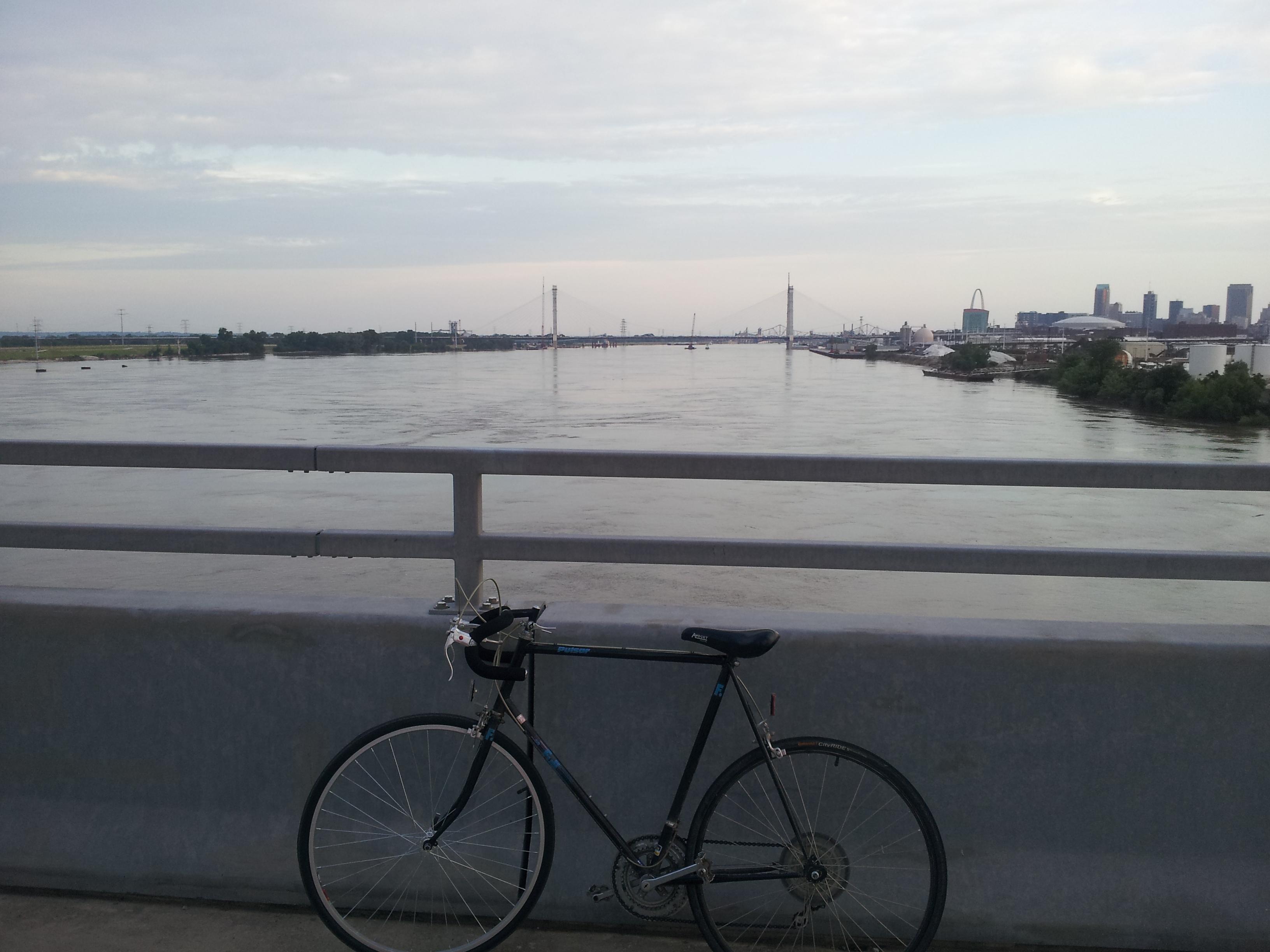 Bicycle On McKinley Bridge Saint Louis Missouri