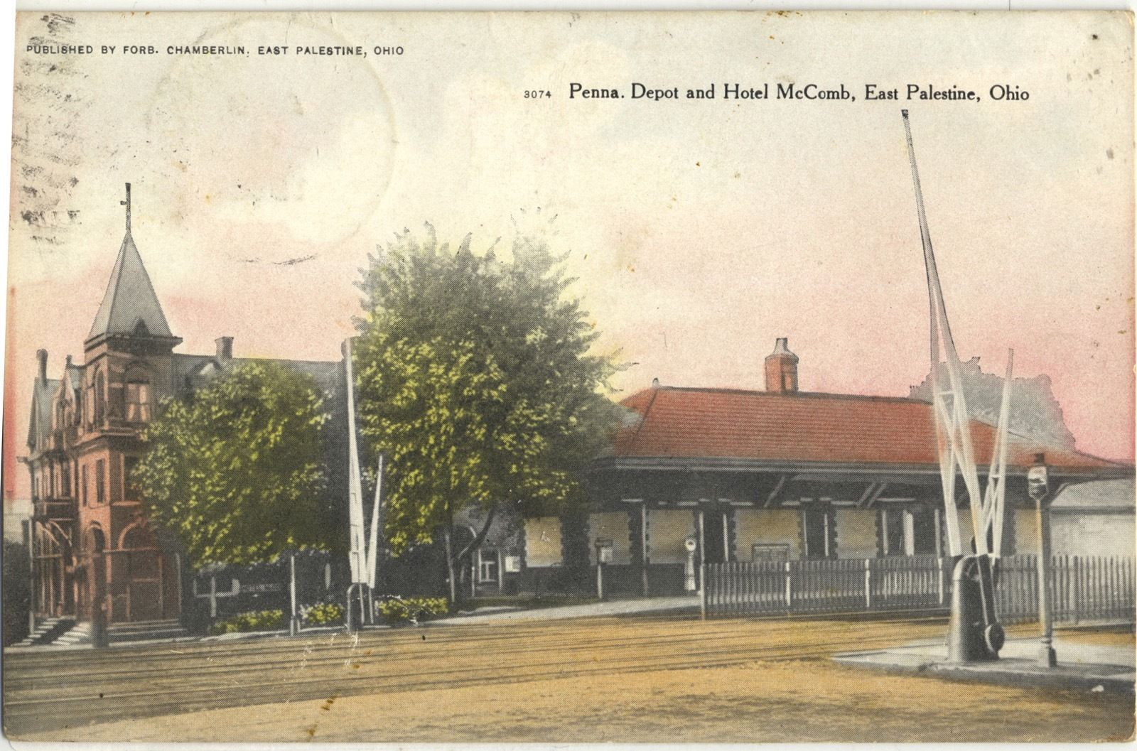Hotel McComb and Pennsylvania Railroad Depot