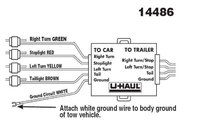 U Haul 4 Way Flat Wiring Diagram 5 way trailer wiring ...  Way Flat Wiring Diagram on