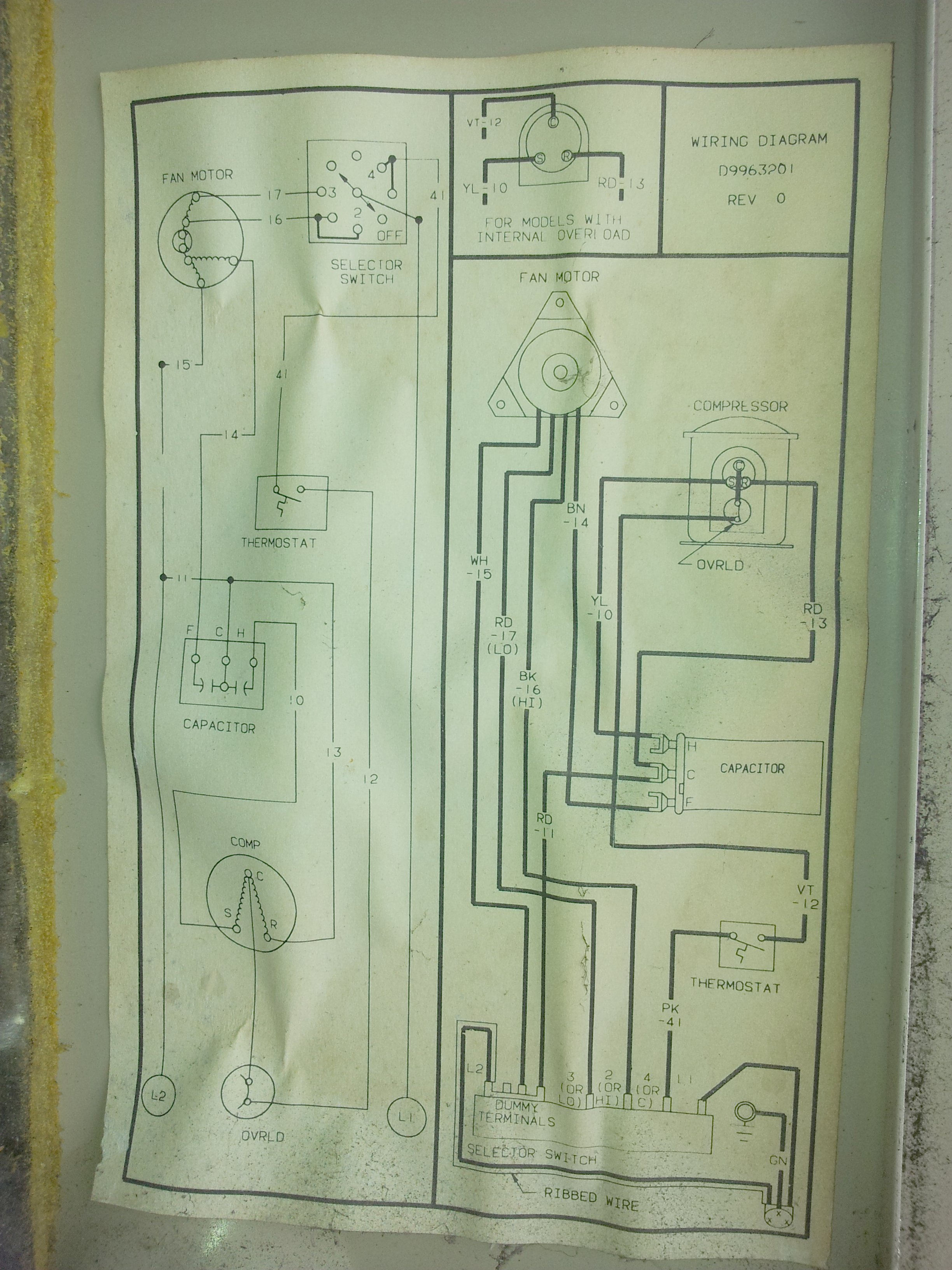1987 Amana Air Conditioner Es122mr A Marketplace Of Ideas Handler Wiring Diagrams This Unit Must Weigh At Least 80 Pounds And Thus For Second Story Window Mounting Support Some Sort Is Required I Built The Deck You See In