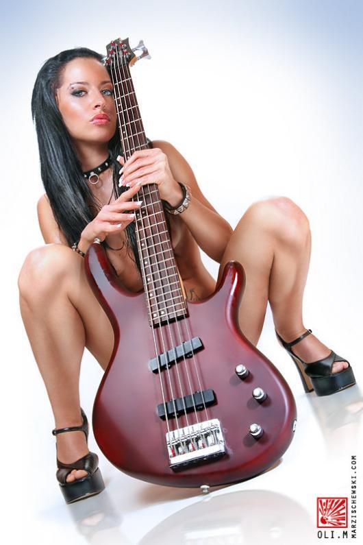 Carol Kaye with Guitar