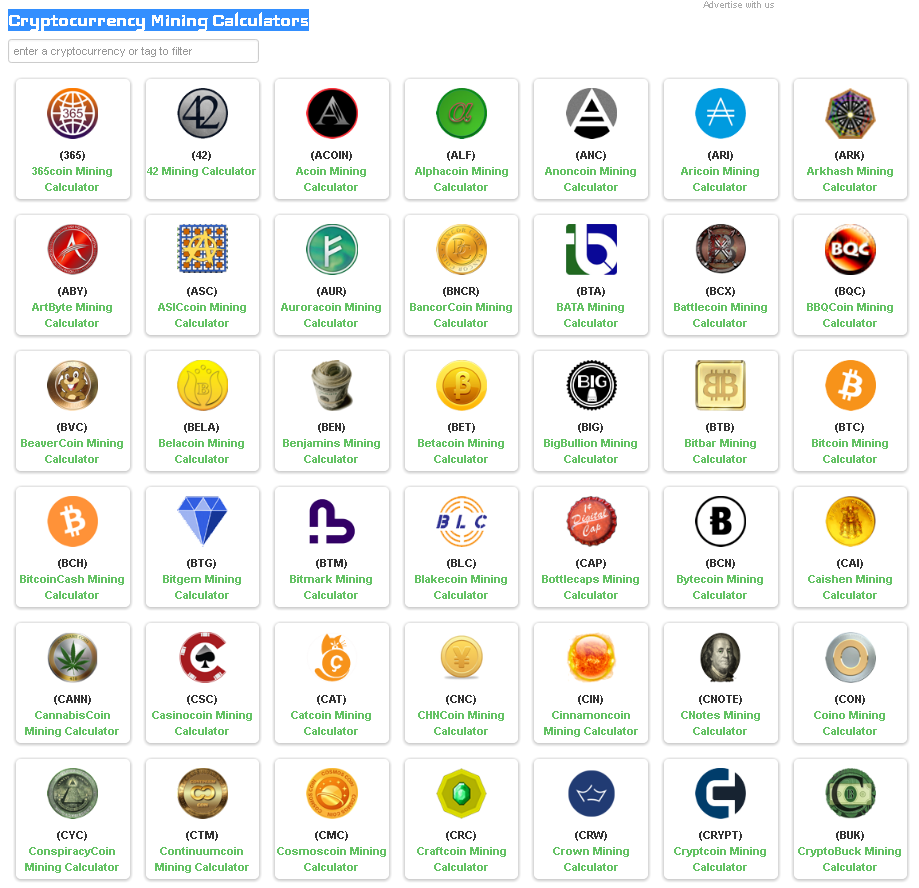 Cryptocurrency Matrix